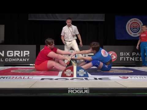 Mas-Wrestling World Absolute Championship - 2017. Lindsay Hall (USA) vs Tuyara Orlova (RUS)