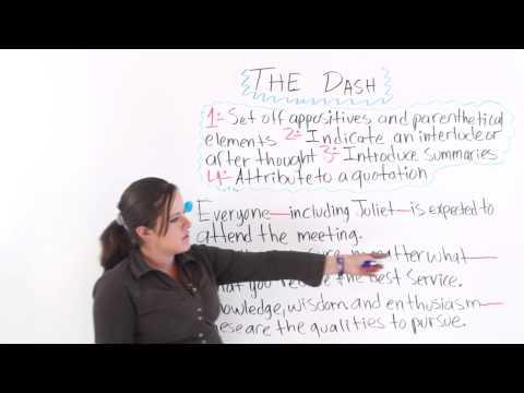 English Punctuation: The Dash (видео)