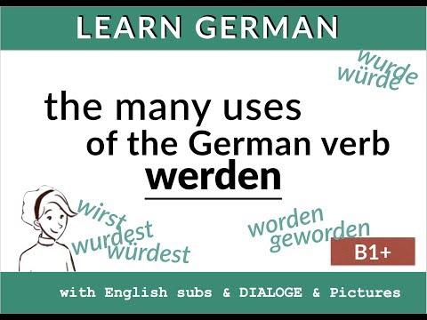 Lern Deutsch: Werden - würde - wurde - geworden. How to translate werden in English! (видео)