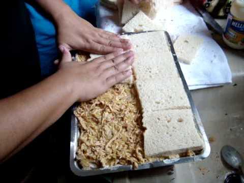 montando a torta salgada
