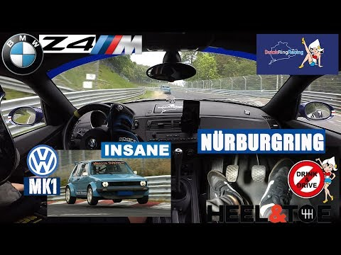 Nürburgring insane VW Golf Mark1 vs BMW Z4M Coupé - Heel & Toe cam - DutchRingRacing