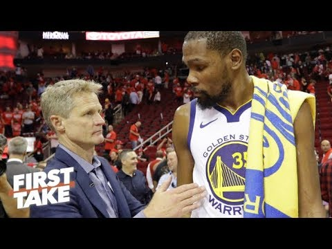 Video: Stephen A.: Kevin Durant 'was not feeling Steve Kerr — at all' | First Take