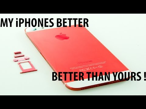 Black iPhone 5 Converted to Red and White