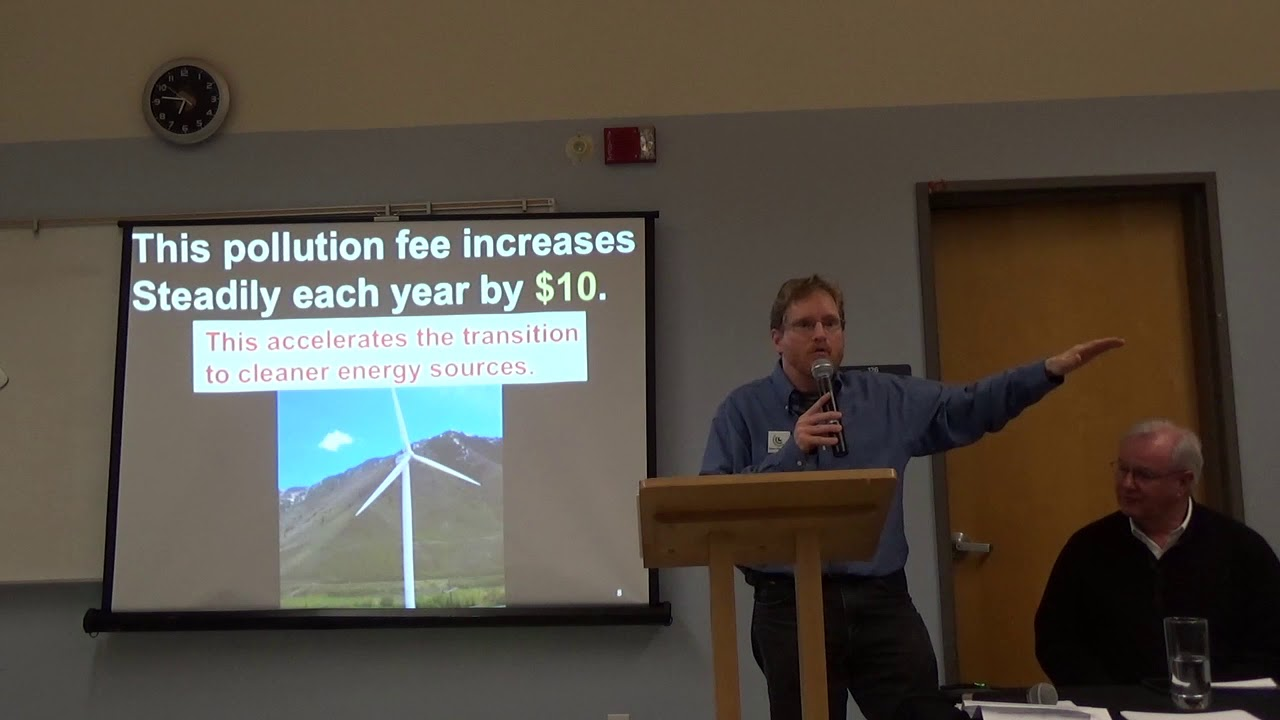 Brian Ettling of CCL speaks about the Clean Energy Jobs bill in Newport – Part 1