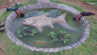 Build Stone Fish Pond Part 2