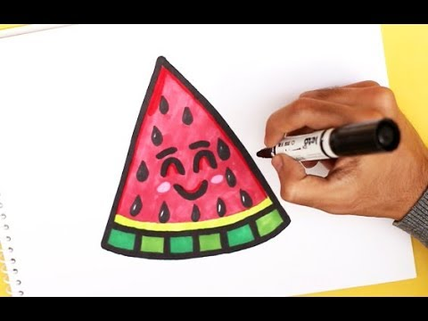 Video How To Draw A Cute Watermelon Easy download in MP3, 3GP, MP4, WEBM, AVI, FLV January 2017