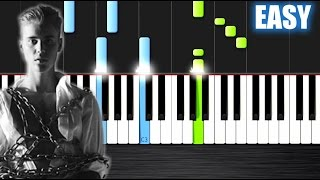 Justin Bieber - Purpose - EASY Piano Tutorial