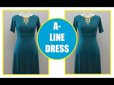 How To Sew An  A Line Dress