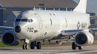 """""""Tiger 56"""". Boeing P-8A Poseidón de la Marina de los EE.UU. despegando desde la pista 17L del aeropuerto internacional Arturo Merino Benítez en el marco del ejercicio militar Teamwork South 2017 que desarrolla con la Armada de Chile en costas chilenas.De los 2 Boeing P-8 que arribaron a Santiago, el del vídeo corresponde al numeral 168760, parte del escuadrón VP-16 War Eagles de la US Navy.© Juan Carlos BascuñánTodos los derechos reservadosAll rights reserved"""