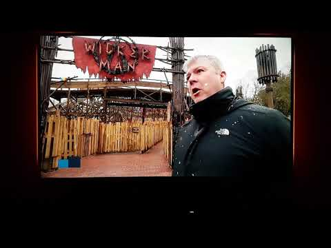 Alton Towers Wicker Man on ITV Central News (08/03/18)
