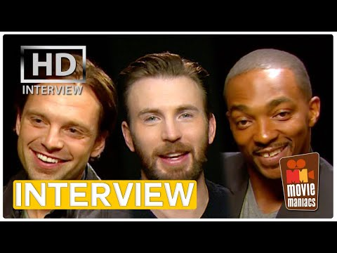 First Date with Captain America | Civil War Interview (2016) Chris Evans Anthony Mackie
