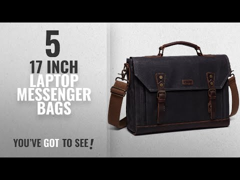 Featured 17 Inch Laptop Messenger Bags [2018]: 17 inch Laptop Messenger Bag,Vaschy Vintage Waxed