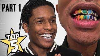 Video TOP 5 | RAPPER'S GRILLZ ( Travis Scott, Kevin Gates, ASAP Rocky ) MP3, 3GP, MP4, WEBM, AVI, FLV Agustus 2018