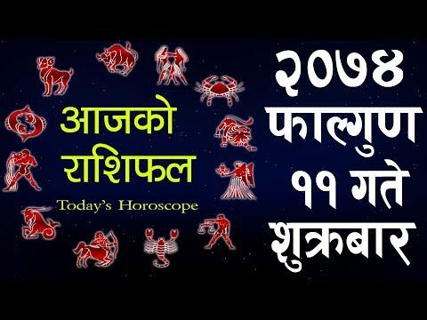 (Aajako Rashifal 2074 FALGUN 11,Today's Horoscope...10 min.)