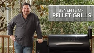If you want to be able to smoke, bake, bbq & grill with wood fired flavor, pellet grills are worth checking out.  In this video, we take a look at the benefits of pellet style grills.  Shop Pellet Grills Here: https://www.bbqguys.com/bbq-grills-smokers/pellet-grills-smokersAdvantages of Pellet Grills:- Delicious Wood Fire FlavorHardwood pellets come in a wide variety of flavors, such as pecan, hickory, mesquite, cherry, apple, maple and more. You can also mix pellet flavors to create something that tastes unique. Also, unlike traditional BBQ smokers, pellet grills produce a more subtle smoky flavor, which will keep you from over-smoking your food.- Easiest Grill To UseWood Fire Pellet grills & smokers are the easiest grills to use, period. Just add hardwood pellets, set the temperature and focus on more important things, like friends and family. It's as easy as using your kitchen convection oven.- Unbelievable ConsistencyPellet grills & smokers always produce a consistent temperature, giving you consistent results with every use. They do this by monitoring the temperature for you, automatically adding pellets as needed to regulate the temperature. This allows you to replicate perfect results, time and time again.Featuring: Frank AlfieriFilmed/Produced by: Paris Frederick