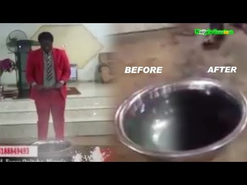 Prophet Turns WATER To RED WINE As Congregation Get Drunk