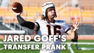 NFL QB Jared Goff Pranks Unsuspecting College Football Team