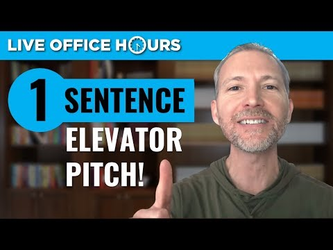 How to Create Your One-Sentence Elevator Pitch: Live Office Hours: Andrew LaCivita