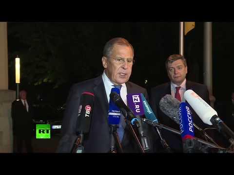 Пресс-подход Лаврова после встречи «нормандской четвёрки» - DomaVideo.Ru