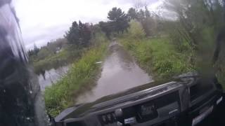 10. Mule Pro FXT in long deep puddle on Seguin Trail