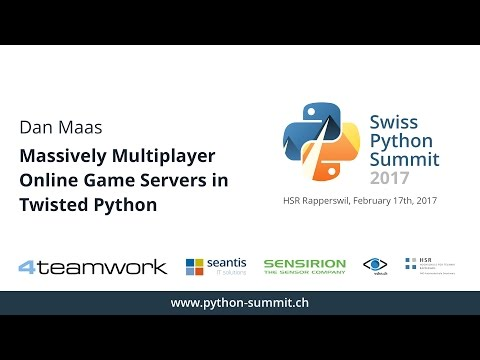 Dan Maas – Massively Multiplayer Online Game Servers in Twisted Python – SPS17