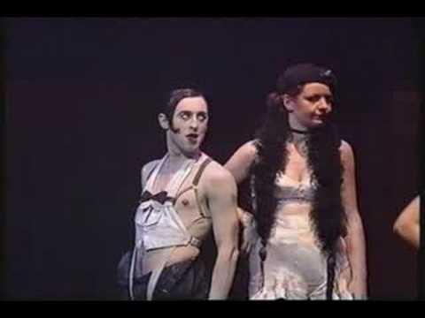 Cabaret - The televised performance from the Donmar Warehouse production. It stars Alan Cumming as the ( very sexy ) Emcee. This clip includes