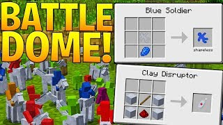INSANE CLAY SOLDIER BATTLE DOME ARMY - 250 vs 250 - MODDED MINECRAFT MINIGAME