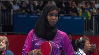 Full highlights of the Women's Table Tennis Singles Preliminary Round match between Brazil's Caroline Kumahara and Djibouti's ...