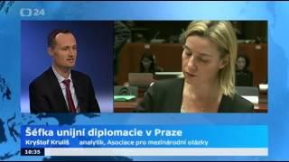 Místopředsedkyně EK Mogheriniová v ČR