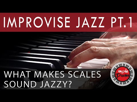 How To Improvise Jazz Piano. Part 1. The Bebop Scale.