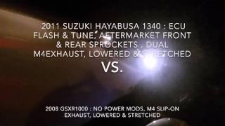 8. 2011 Hayabusa 1340 vs 2008 Gsxr1000 vs 2013 zx10r
