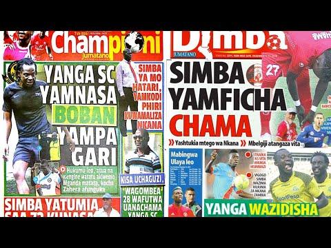 MICHEZO Magazetini Jumatano 12/12/2018:Simba Yaifuata Nkana Kibabe