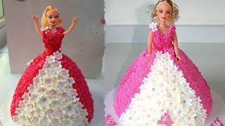 How To Make Barbie Cake Design | Easy Birthday Cake Decorations