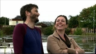 David Tennant & Olivia Colman on the set of Broadchurch