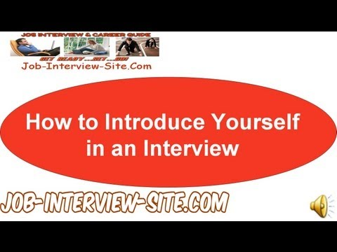 introduce - http://www.job-interview-site.com/how-to-introduce-yourself-in-an-interview.html So, how should you introduce yourself when you go to a job interview? How to...
