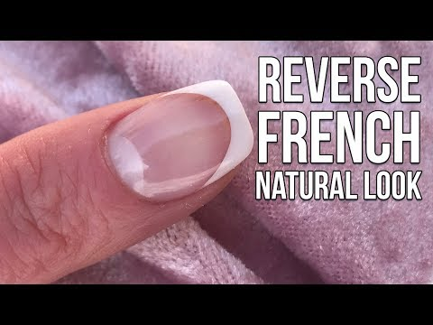 HOW TO DO A NATURAL REVERSE FRENCH ACRYLIC OVERLAY