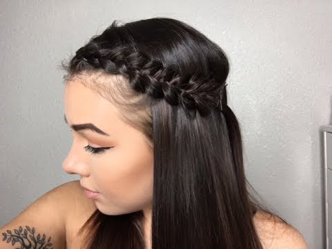 EASY BRAIDED HAIRSTYLES TO GET BANGS OUT OF FACE!