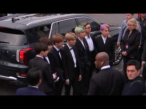 BTS Arriving To The Red Carpet  2019 GRAMMYs