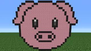 Minecraft Tutorial: How To Make The Pig Emoji