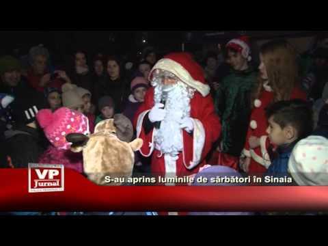 S-au aprins luminile de sarbatori in Sinaia