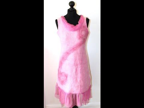 Filzanleitung für ein gefilztes Kleid – Nunofilzen