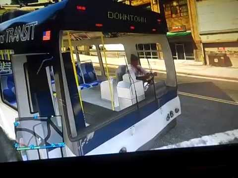GTA V Moment #5 THE MAD BUS DRIVER