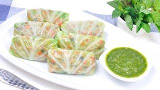 กะหล่ำปลีลุยสวน Cabbage Wrap with Pork and Vegetable