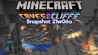 Exploring New Cave Generation in Survival! • Minecraft 1.17 Snapshot 21w06a • Caves & Cliffs Update