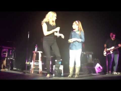 to the stage - Amazing 11 year old sings with Carrie Underwood on stage. Thank you Carrie for making my Dream come true!!! Carrie was very gracious to share her stage with me. This experience will be...