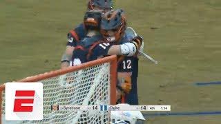 Syracuse lax gets revenge against Duke
