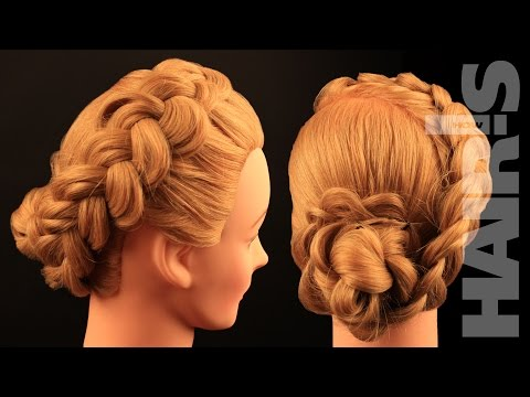 How to do a Dutch braid with braided hair rose chignon hairstyle