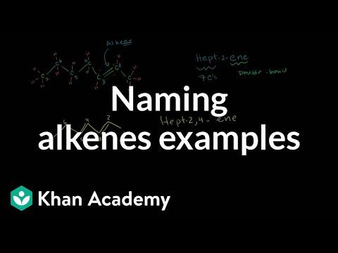 Naming Alkenes Examples Video Khan Academy