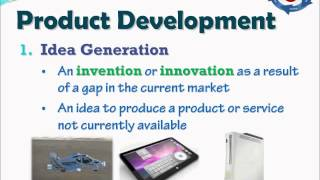 This video explores the 8 stages of product development. As well, it helps identify what we mean by 'product' and where the...