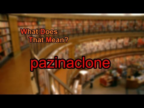 What does pazinaclone mean?
